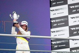 Marta Garcia on the podium