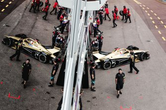 Jean-Eric Vergne, DS TECHEETAH, DS E-Tense FE19 exits the garage