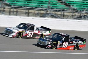 Brandon Jones, Kyle Busch Motorsports, Toyota Tundra Chigo/Menards and Harrison Burton, Kyle Busch Motorsports, Toyota Tundra Safelite AutoGlass
