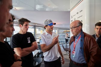 Moto GP riders Alex and Marc Marquez with Carlos Sainz Jr., McLaren