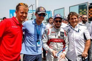 Маттиас Экстрём, Себастьен Ожье, гонщик Audi Sport Team WRT Андреа Довициозо и Алессандро Дзанарди