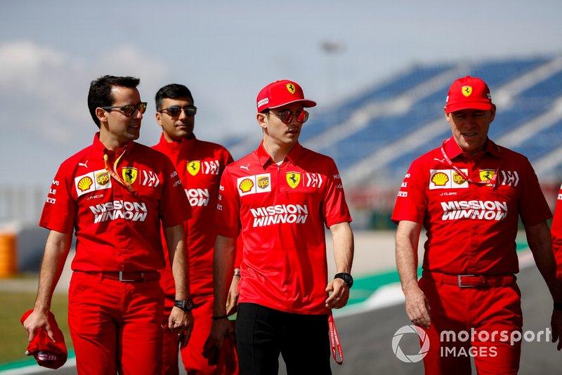 Charles Leclerc, Ferrari fait un trackwalk