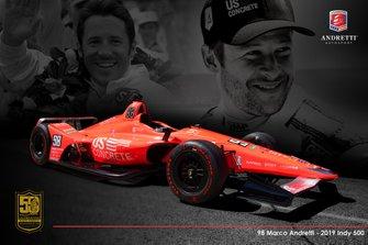 Indy-500-Design für Marco Andretti, Andretti Herta with Marco & Curb-Agajanian Honda