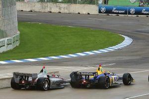 Will Power, Team Penske Chevrolet; Alexander Rossi, Andretti Autosport Honda