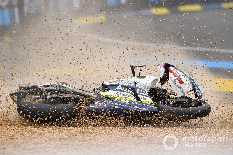 Caída de Joan Mir, Team Suzuki MotoGP, Karel Abraham, Avintia Racing