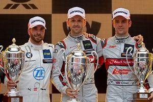 Podium: Race winner René Rast, Audi Sport Team Rosberg, second place Philipp Eng, BMW Team RBM, third place Jamie Green, Audi Sport Team Rosberg
