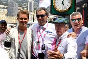 Nico Rosberg and Sir Jackie Stewart, 3-time F1 Champion, with a guest