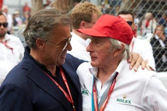 Jean Alesi and Sir Jackie Stewart, 3-time F1 Champion