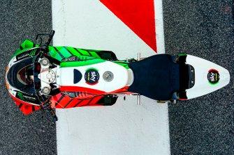 Decoración tricolor en la moto de Luca Marini, Sky Racing Team VR46
