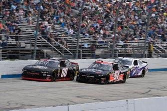 Gray Gaulding, SS Green Light Racing, Chevrolet Camaro, Jeremy Clements, Jeremy Clements Racing, Chevrolet Camaro RepairableVehicles.com, and Brandon Brown, Brandonbilt Motorsports, Chevrolet Camaro Vector Security