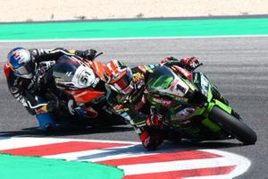Jonathan Rea, Kawasaki Racing Team and Toprak Razgatlioglu, Turkish Puccetti Racing