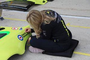 Aston Martin Racing team member at work