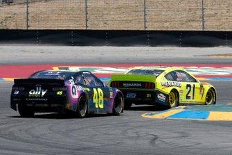 Paul Menard, Wood Brothers Racing, Ford Mustang Menards / Richmond, Jimmie Johnson, Hendrick Motorsports, Chevrolet Camaro Ally