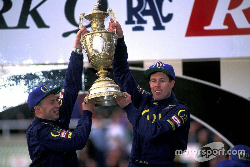 Colin McRae (a la derecha, con Derek Ringer), campeón del mundo del WRC 1995