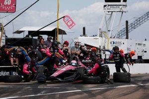 Jack Harvey, Meyer Shank Racing with Arrow SPM Honda, pit stop