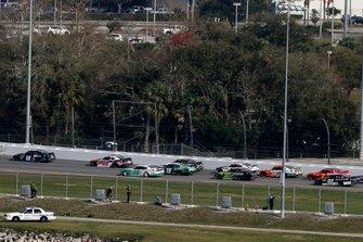 Jeffrey Earnhardt, Joe Gibbs Racing, Toyota Supra iK9, Christopher Bell, Joe Gibbs Racing, Toyota Supra Rheem and Austin Cindric, Team Penske, Ford Mustang MoneyLion
