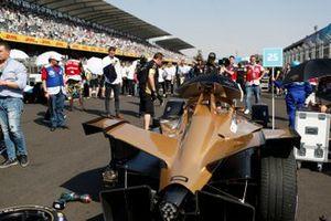 The car of Jean-Eric Vergne, DS TECHEETAH, DS E-Tense FE19, on the grid
