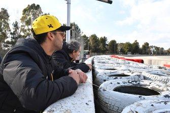 Daniel Ricciardo, Renault F1 Team et Alain Prost, Renault F1