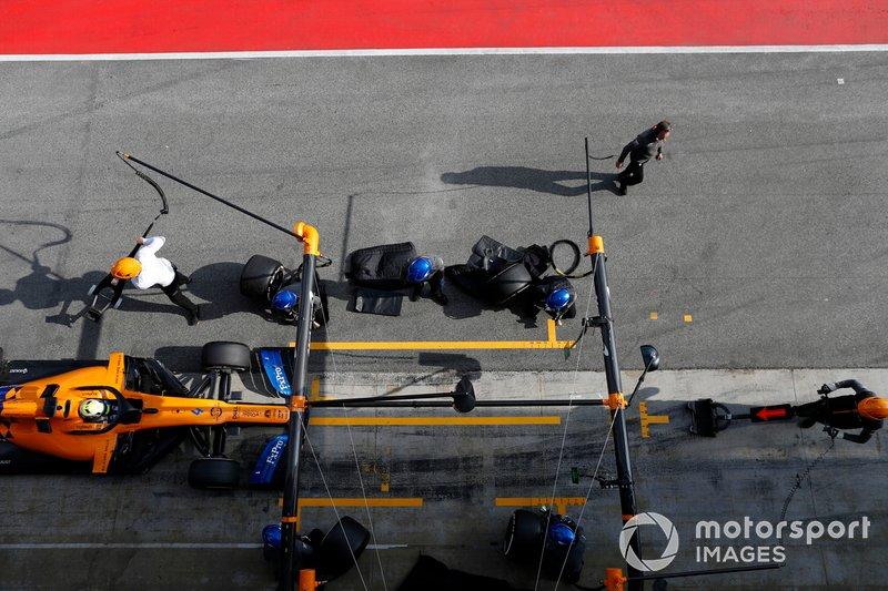 Arrêt au stand de Lando Norris, McLaren MCL34