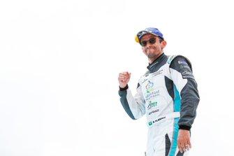 Bandar Alesayi, Saudi Racing, makes his way to the podium