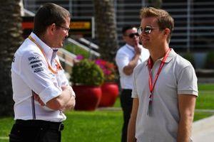 Nico Rosberg, talks to a former team mate