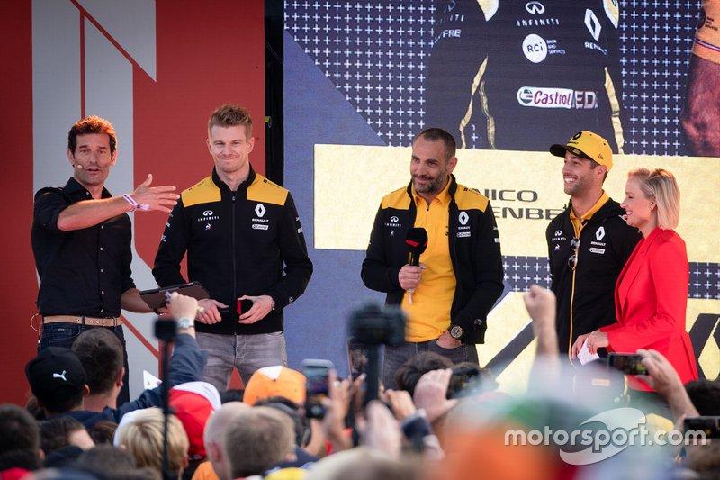Ніко Хюлькенберг, Даніель Ріккардо, Renault F1 Team, керівник Renault F1 Сіріль Абітбуль
