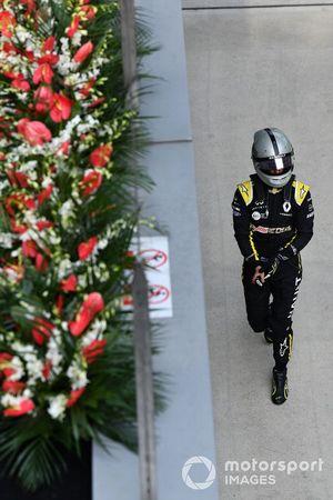 Daniel Ricciardo, Renault, dans le Parc Fermé