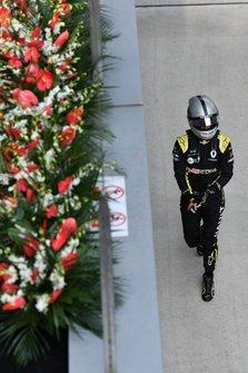 Daniel Ricciardo, Renault, in Parc Ferme