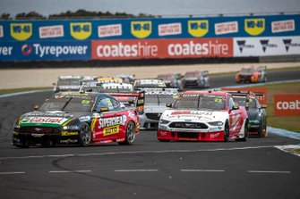 Chaz Mostert, Tickford Racing Ford, Will Davison, 23Red Racing Ford