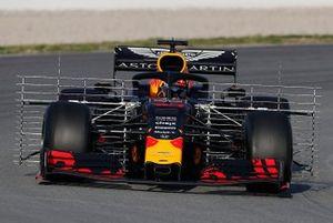 Pierre Gasly, Red Bull Racing RB15 avec des capteurs aérodynamiques