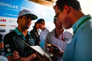 Nelson Piquet Jr., Jaguar Racing talks to the press