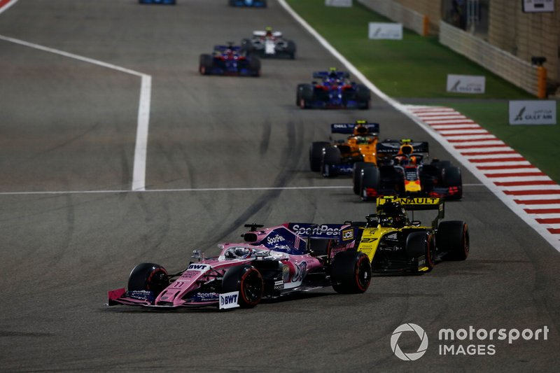 Sergio Perez, Racing Point RP19, Nico Hulkenberg, Renault R.S. 19, Pierre Gasly, Red Bull Racing RB15, Lando Norris, McLaren MCL34