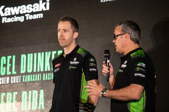 Marcel Duinker, crew chief of Leon Haslam, Kawasaki Racing Team, Pere Riba, crew chief of Jonathan Rea, Kawasaki Racing Team
