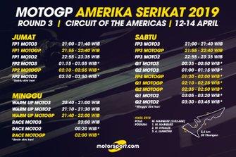 Jadwal MotoGP Amerika Serikat 2019