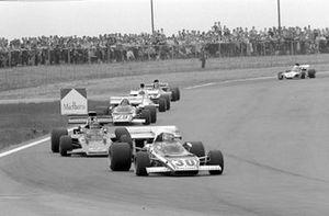 Clay Regazzoni, Ferrari 321B2, Emerson Fittipaldi, Lotus 72D y Jacky Ickx Ferrari 321B2