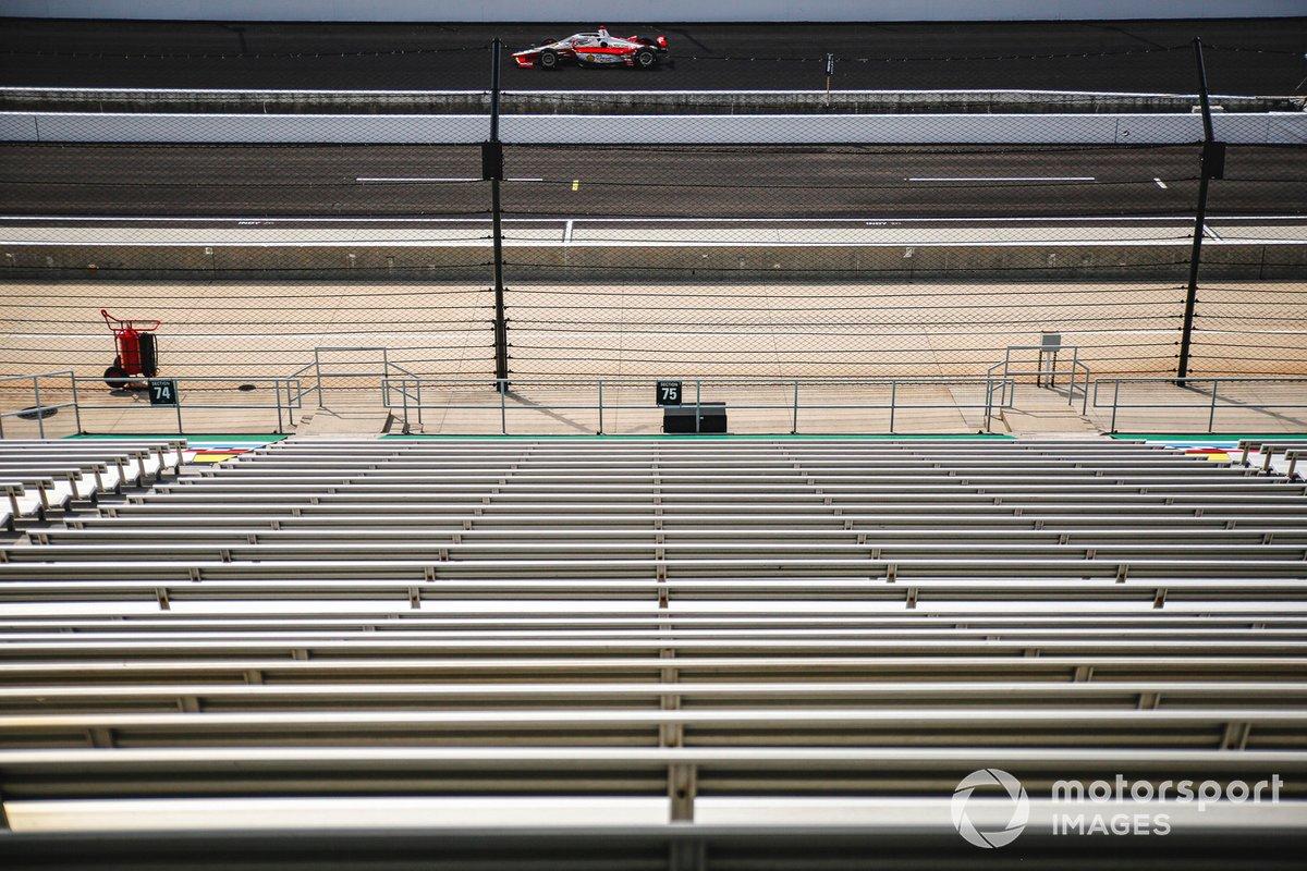 Josef Newgarden, Team Penske Chevrolet, tribunas vacías