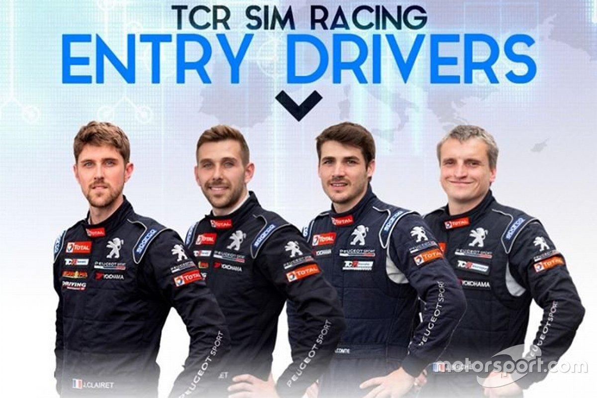 Jimmy Clairet, Teddy Clairet, Aurélien Comte, Julien Brichè, TCR SIM Racing