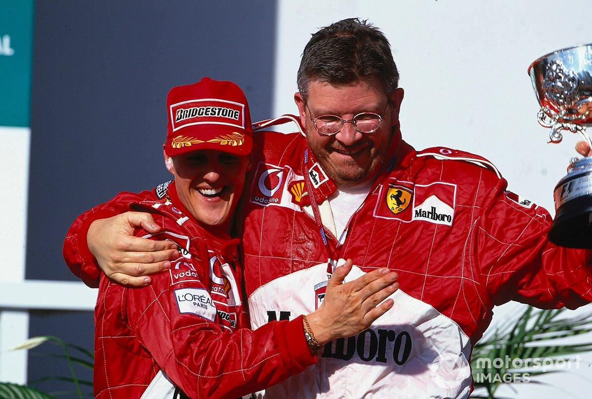 Ну а история о том, как Михаэль с Россом переиграли здесь McLaren за счет лишнего пит-стопа, вошла в золотой фонд Формулы 1