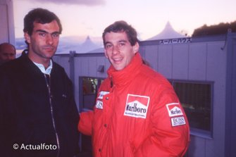 Emanuele Pirro e Ayrton Senna