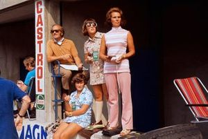 Lotus boss Colin Chapman with wife Hazel and family