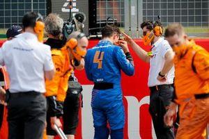 Lando Norris, McLaren on the grid