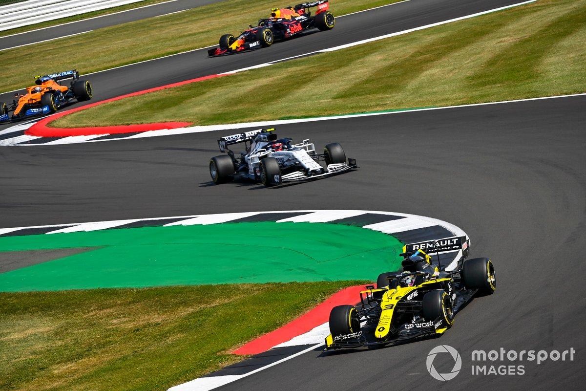 Daniel Ricciardo, Renault F1 Team R.S.20, Pierre Gasly, AlphaTauri AT01, Lando Norris, McLaren MCL35, Alex Albon, Red Bull Racing RB16
