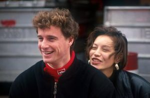 Eddie Irvine with friend
