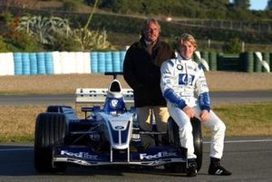 Nico Rosberg, Williams FW25, mit Vater Keke Rosberg