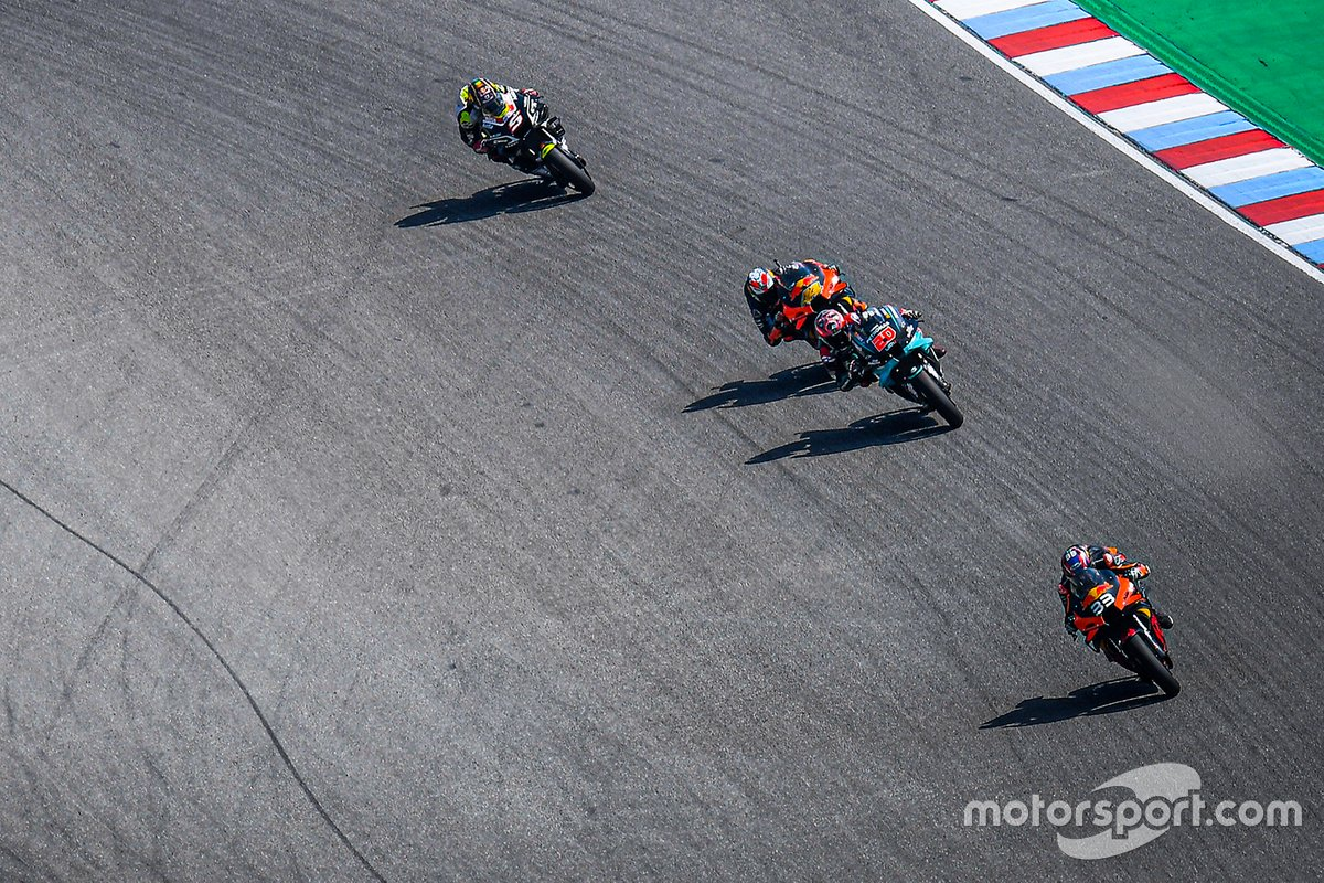 Brad Binder, Red Bull KTM Factory Racing, Fabio Quartararo, Petronas Yamaha SRT, Pol Espargaro, Red Bull KTM Factory Racing, Johann Zarco, Avintia Racing