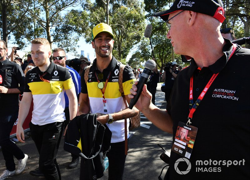 Daniel Ricciardo, Renault F1 arriva in pista
