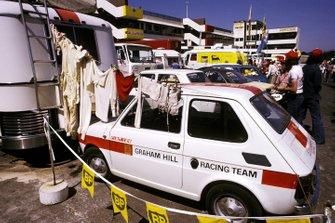 Un Fiat 126 con los colores de Hill Racing