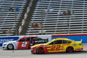 Brad Keselowski, Team Penske, Ford Mustang Wurth and Joey Logano, Team Penske, Ford Mustang Shell Pennzoil