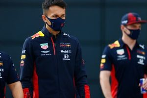 Alex Albon, Red Bull Racing, and Max Verstappen, Red Bull Racing
