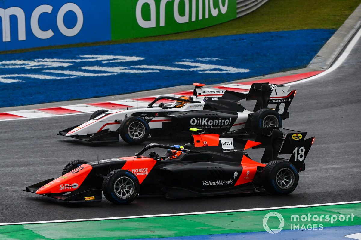 Bent Viscaal, MP Motorsport y Sebastian Fernandez, ART Grand Prix